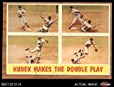 1962 Topps # 311 Makes the Double Play Tony Kubek New York Yankees (Baseball Card) Dean's Cards 4 - VG/EX Yankees