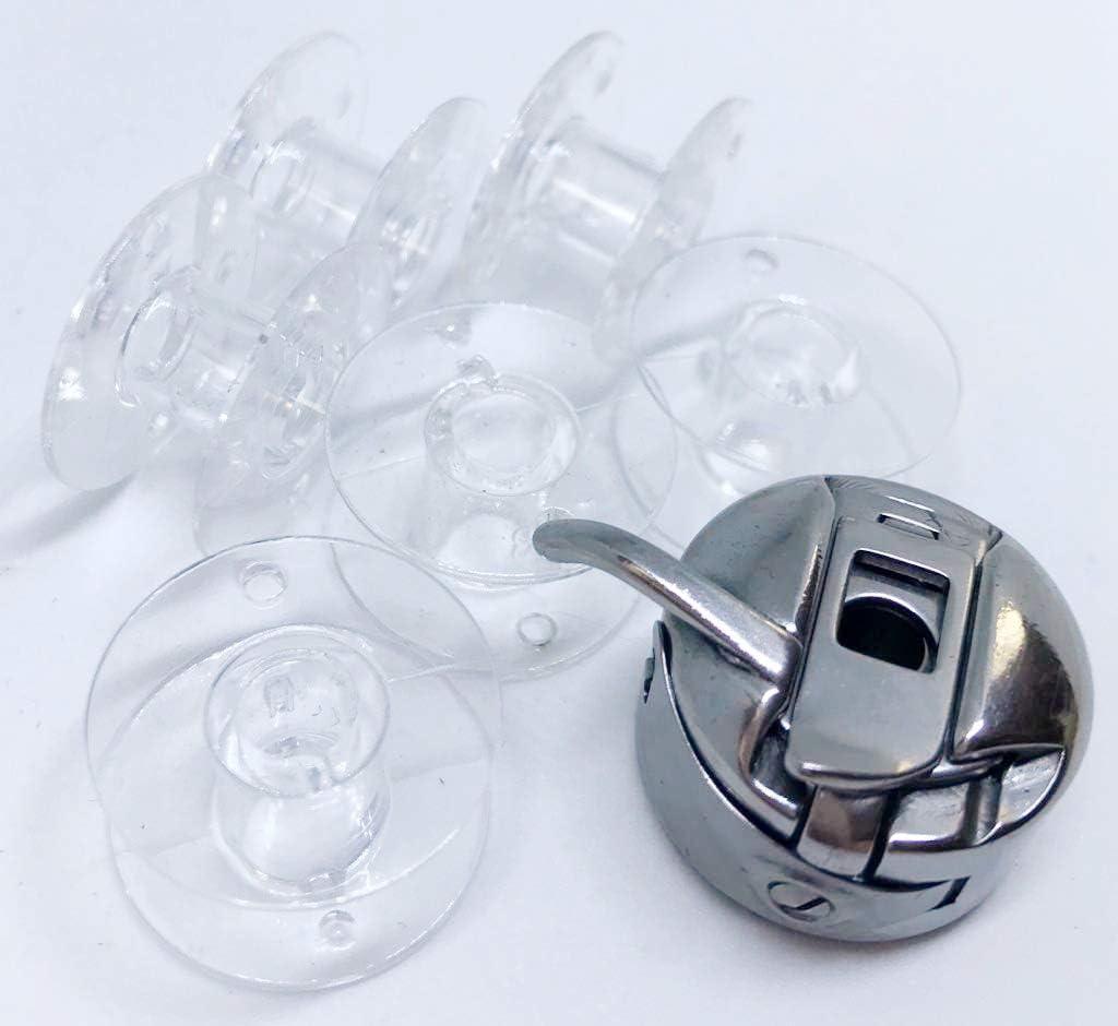 CB Spulenkapsel MD 11836 5 Klarsicht Spulen Medion N/ähmaschinen MD 17187,MD 16661 5 farbige Kunststoff Spulen