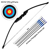 adult starter bow and arrow set - Outdoor Recurve Bow and Arrow Set Archery Training Toy(40LB,5×Arrows,6×Target Faces)