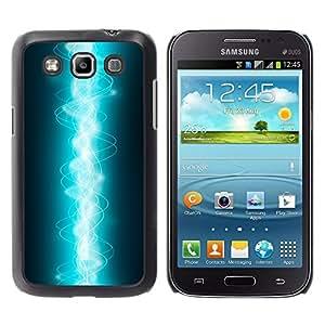 Entrelazados Electric Light - Metal de aluminio y de plástico duro Caja del teléfono - Negro - Samsung Galaxy Win I8550