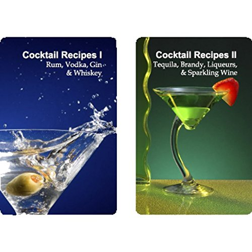 Finders Forum Inc FFPCGT019 Double Deck Cocktail Recipes Playing Cards