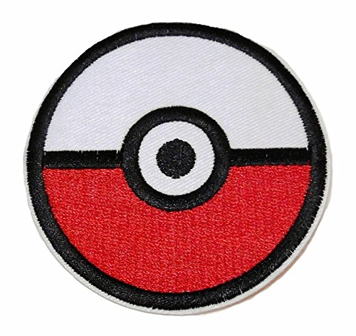 Pokemon Pokeball Iron-on/Sew-on Embroidered PATCH]()
