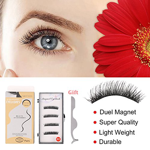 Upgraded Magnetic Eyelashes,3D Black Dual Magne...