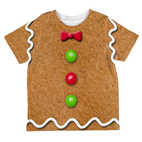 Christmas Gingerbread Man Costume All Over Toddler T Shirt Multi 4T