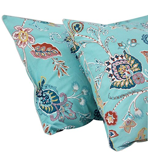 Cotton Pillowcase Paisley (Queen's House Luxurious Baroque Paisley Egyptian Cotton Pillowcases King Size Set of 2-#010)