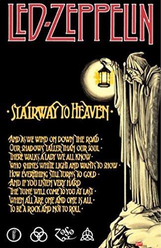 - Buyartforless Led Zeppelin Stairway to Heaven 36x24 Music Art Print Poster Wall Decor Classic Image