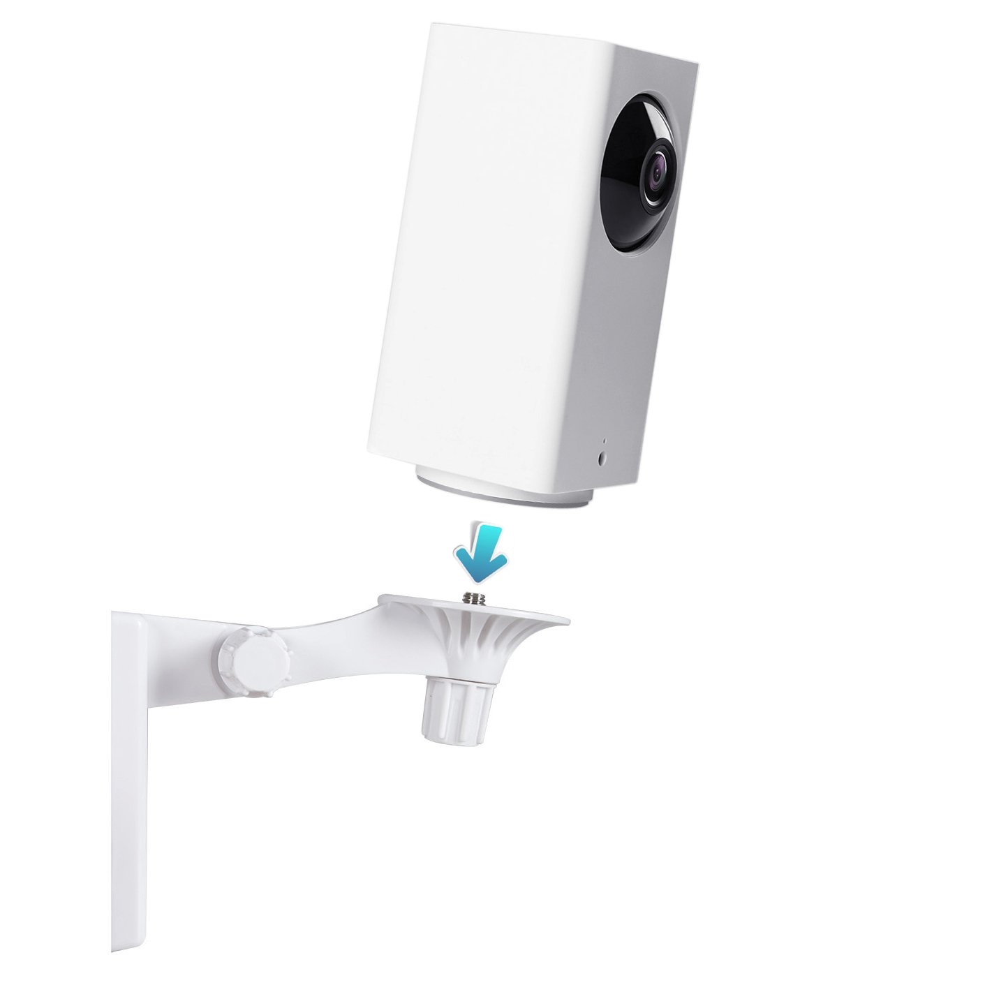 Wyze Cam Pan Wall Mount Bracket with Stable Tray, Adjustable Indoor Outdoor Mount for 1080p Pan/Tilt/Zoom Wi-Fi Indoor Smart Home Camera by Yuzz