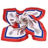 Grace Scarves 100% Silk Scarf, Extra-Large, Palacial Tassles, White