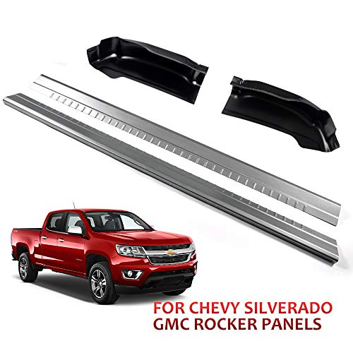 New Rocker Panels & Cab Corners Works With Chevy Silverado GMC Sierra 1999-2006 Exended Cab 4Door Outer Rocker Panel And Cab Corner Pair