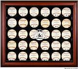 New York Mets Framed 30-Ball Logo Display Case
