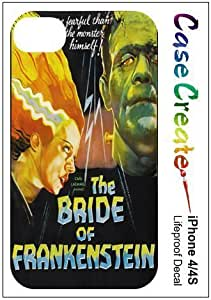 The Bride of Frankenstein Decorative Sticker Decal for your iPhone 4 4S Lifeproof Case