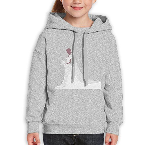 Fashion Girl's Sweatshirts,Comfortable Bride White Wedding Dress Cotton Hoodie Pullover For Children by CHENLY