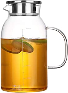 GUONING-L Tea 1.8L borosilicate glass kettle thick cold water cooler temperature explosion-proof glass household glass bottle Teapot