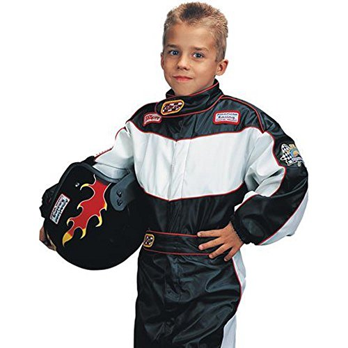 Medium Child's Deluxe Race Car Driver Costume (For