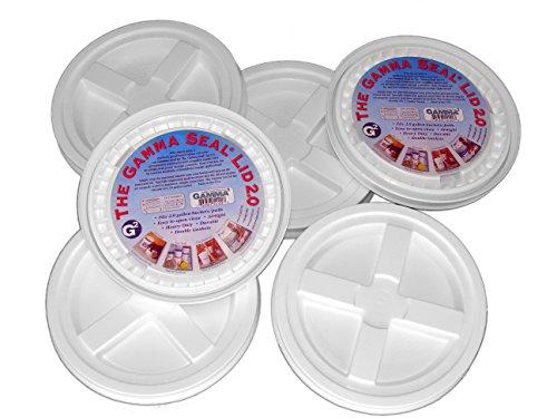 Dimensions 5 Gallon Bucket (6 Gamma Seal Lids for 2-Gallon Standardized Buckets (do NOT fit 5 gallon buckets))