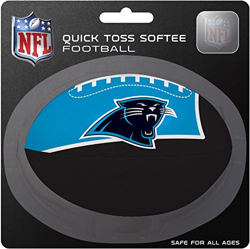 (NFL Carolina Panthers Kids Quick Toss Softee Football, Blue, Small)