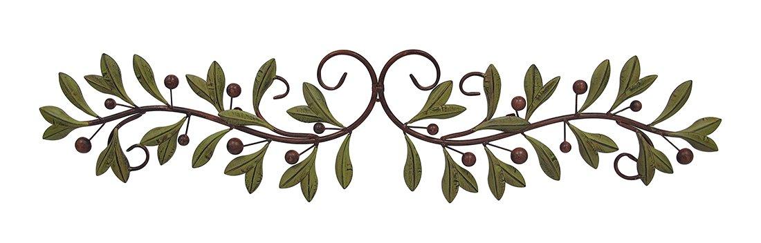 deco 79 metal olive branch over the door wall decor 47 inch new ebay. Black Bedroom Furniture Sets. Home Design Ideas