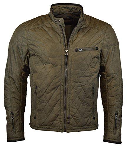 Polo Ralph Lauren Mens Quilted Full Zip Nylon Moto Jacket - XL - Speed Grey