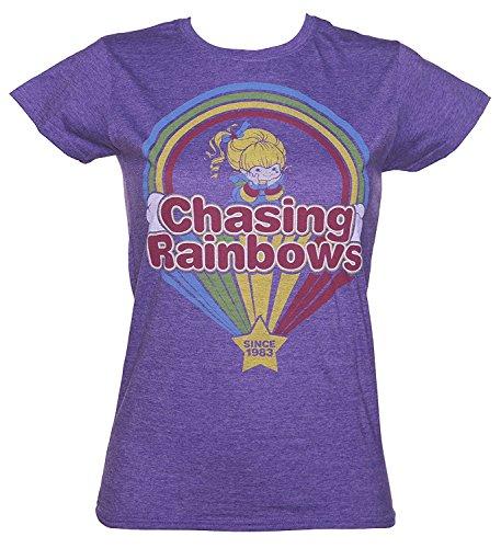 Drovion Women's Rainbow Brite Chasing Rainbows T Shirt
