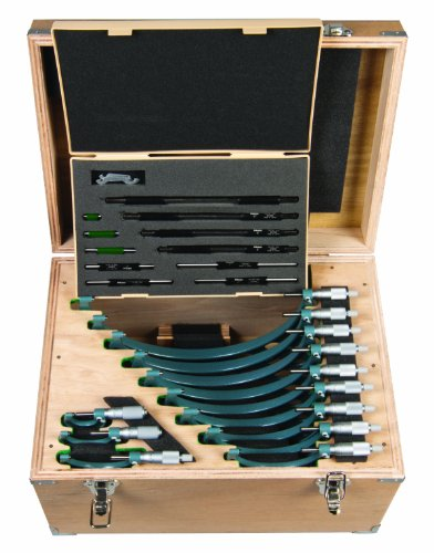 Outside Micrometer Set with Standards, 0-12