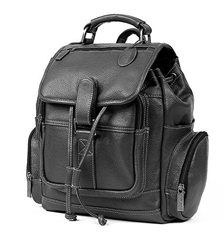 Claire Chase Uptown Leather Regular Laptop Backpack in Black by ClaireChase