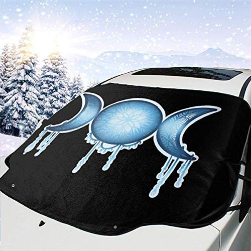 Crow Raven Black Wicca Wiccan Windshield Sun Shade Sunshades Keep Vehicle Cool from Sun Heat /& Glare Uv Ray Visor Protecto Car Accessories