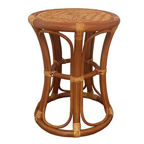 Rattan Round Universal Stool model Tom (Light - Round Brown Models