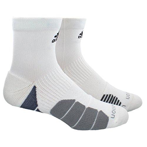 - adidas Traxion Menace Basketball/Football High Quarter Socks (1-Pack), White/Onix/Light Onix/Black, Medium