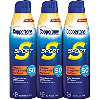 3-Pack Coppertone SPORT Continuous Sunscreen Spray Broad Spectrum SPF 50 Multipack (5.5 Ounce Bottles)