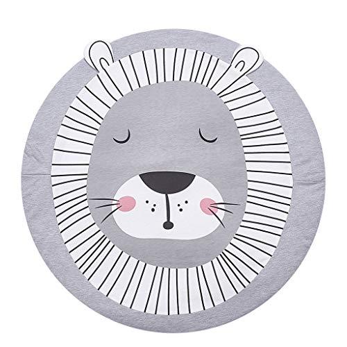 - Baby Blanket, Pausseo Round Baby Rugs Creeping Crawling Mat Cartoon Sleeping Rugs, Baby Anti-Slip Game Mat Floor Play Mat Play Environmental Carpet Kids Room Decor, 35.4 35.4