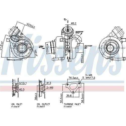 Nisss 93255 Turbo Charger: