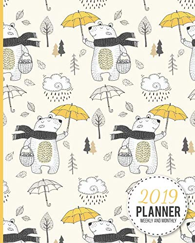 2019 Planner Weekly And Monthly: Calendar Schedule and Organizer. Inspirational Quotes, Polar Bear Cover | January 2019 through December 2019