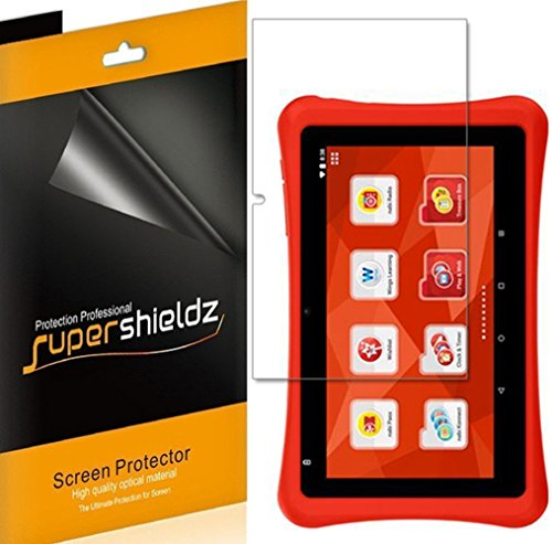 [3-Pack] Supershieldz for Nabi Fisher-Price Learning Tablet 7 inch Screen Protector, Anti-Bubble High Definition Clear Shield + Lifetime Replacements Warranty- Retail Packaging