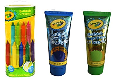 Crayola Bathtub Crayons 9 ct + Crayola Bathtub Fingerpaint Soap 2 ct