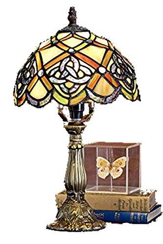 Celtics Lamp (Tiffany Lamp & Gift Factory AD-17051 Tiffany Lamp Irish Celtic Lamp 8 inch Tiffany-Style Art Glass Desk Lamp Table Light (8))