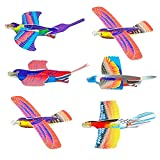 DomeStar Bird Foam Glider Planes, 24PCS Fighter Jets Airplane Assorted Colors Bird Glider Planes Indoor Outdoor Boomerang Plane Perfect Party Favors for Kids Boys Girls by