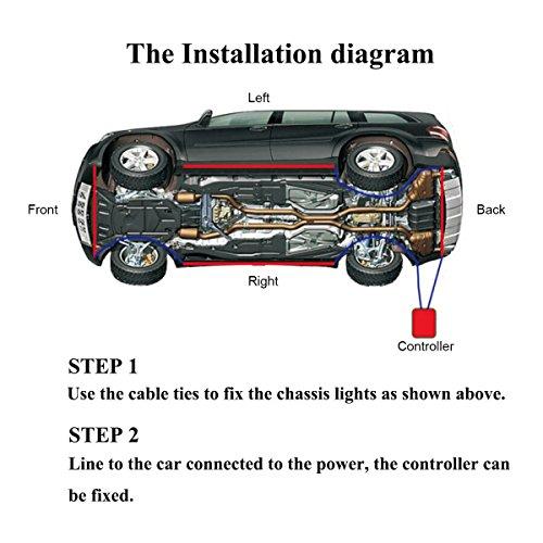 amazon com ambother 4pcs car led neon undercar glow light underglow rh amazon com e46 under car diagram under car diagram on 97 ford escort