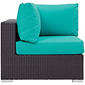 Modway Convene Outdoor Patio Rattan Porch Furniture - All Weather Cushions from Modway©