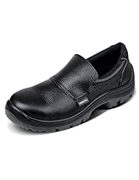 SYYAN Men And Women Genuine Leather Sleeves Anti-smashing Waterproof Non-slip Work Shoes
