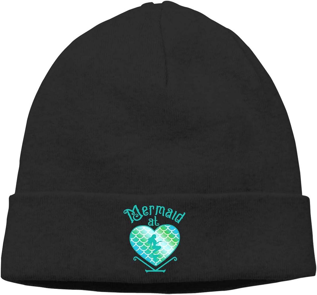 Mermaid at Heart Beanie Hats Cap Men /& Women Stretchy /& Soft Skull Cap Beanie Skull Cap