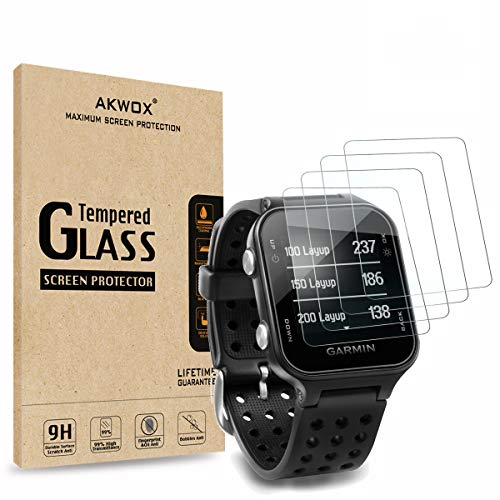 Find Cheap (Pack of 4) Tempered Glass Screen Protector for Garmin Approach S20, Akwox [0.3mm 2.5D Hi...