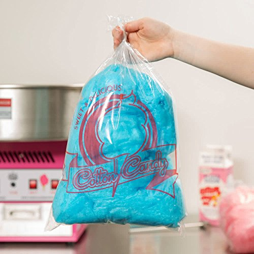Carnival King 202502504 11 1/2' x 19 1/2' Printed Cotton Candy Bag - 100/Pack