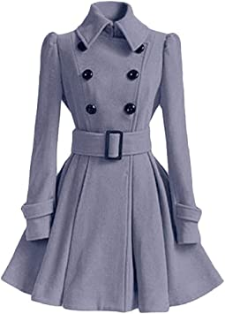 Gr.38 Damen Mantel mit gerafften Details silbergrau NEU