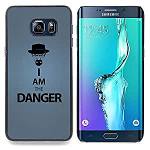 - Funny I Am The Danger/ Hard Snap On Cell Phone Case Cover - Cao - For Samsung Galaxy S6 Edge Plus