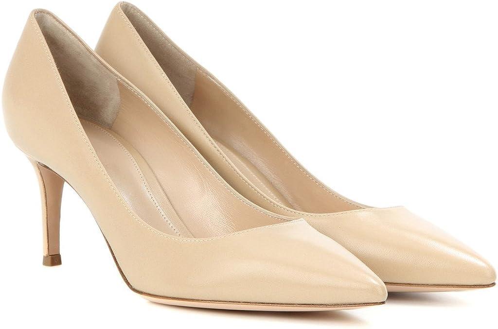 Escarpins Femme 6 cm Kitten-Heel Chaussures EDEFS Bout Pointu Ferm/é Classique Bureau Soiree Shoes
