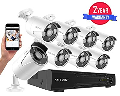 Security Camera System,Safevant 8CH 5-in-1 HD DVR Surveillance Camera System (NO HDD),4pcs 1080P High Definition Outdoor Cameras with Night Vision -DIY Kit,Free App for Smartphone Remote Monitoring from Safesky