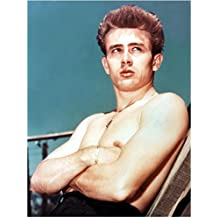 James Dean Shirtless with Arms Crossed Looking On 8 x 10 Inch Photo