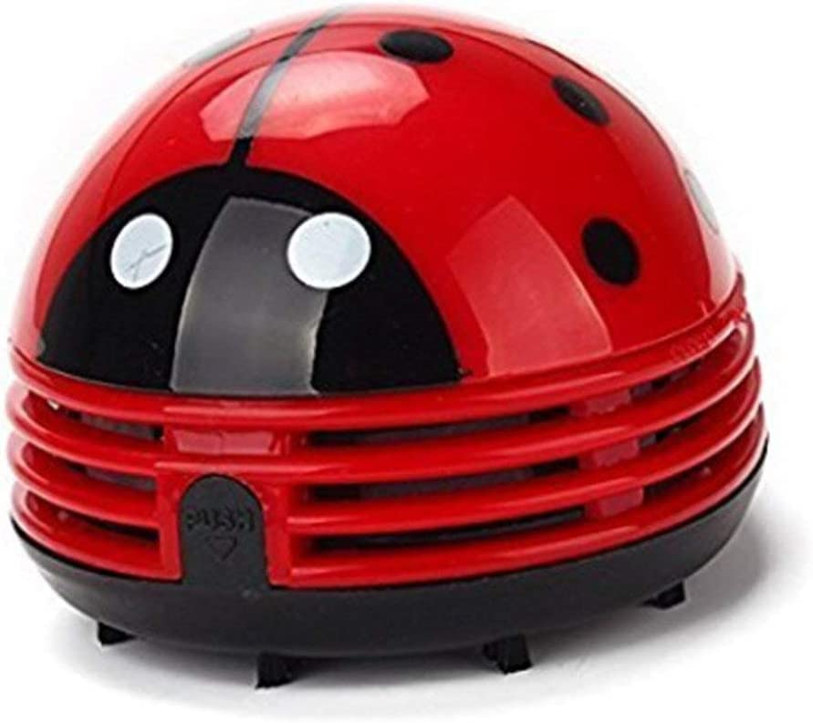 Ladybug Vacuum Cleaner - Mini Vacuum Cleaner Portable Corner Desk Vacuum Cleaner Mini Cute Vacuum Cleaner Dust Sweeper 1Pcs