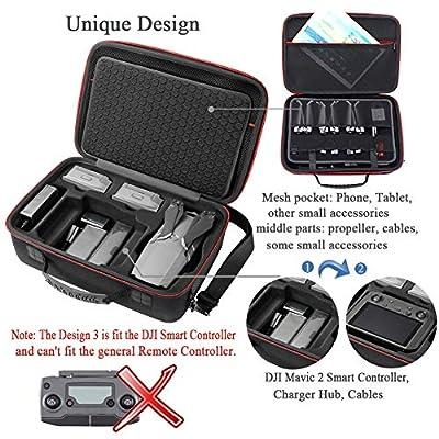 Hard Storage Carrying Case Compatible with DJI Mavic 2 Pro/DJI Mavic 2 Zoom and DJI Smart Controller(Not fit for Mavic pro/Mavic Platinum: Toys & Games