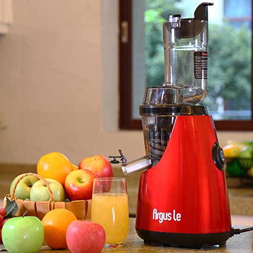 Argus Le Masticating Juicer, Whole Slow Juicer, 3''inches(75MM) Wide Feed Chute, Easy Cleaning Auger, Energy Saving 150W DC Motor, Fruit and Vegetable Juice Extractor with Two Filters and Recipe Book by Argus Le (Image #3)